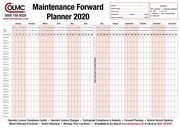 2020 Vehicle Maintenance Wall Planner